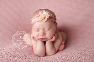 East Amherst Newborn Photographer | Baby Girl Pink Backdrop