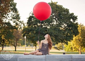 portrait pretty photography buffalo ny senior portrait large round balloon