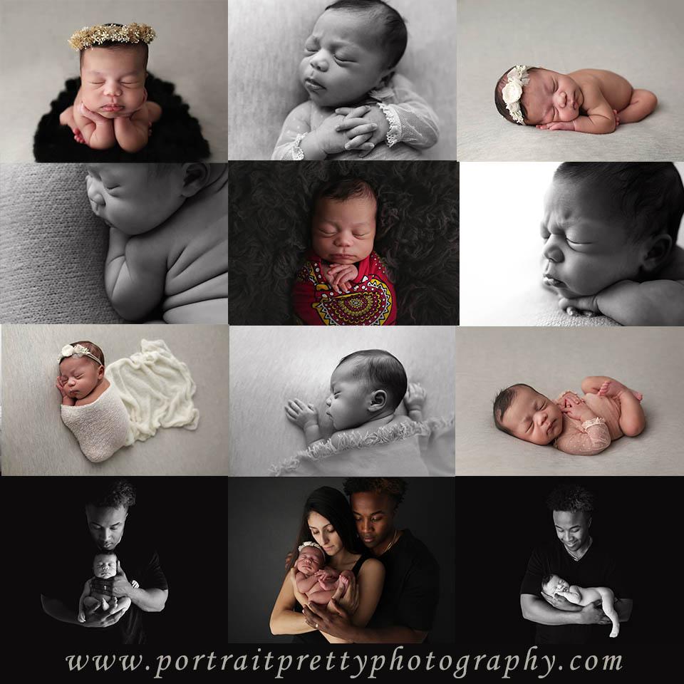 buffalo ny newborn photographer black gray and white color pallet girl-2
