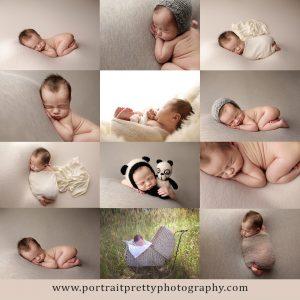 portrait pretty photography buffalo photographers newborn baby boy neutral colors