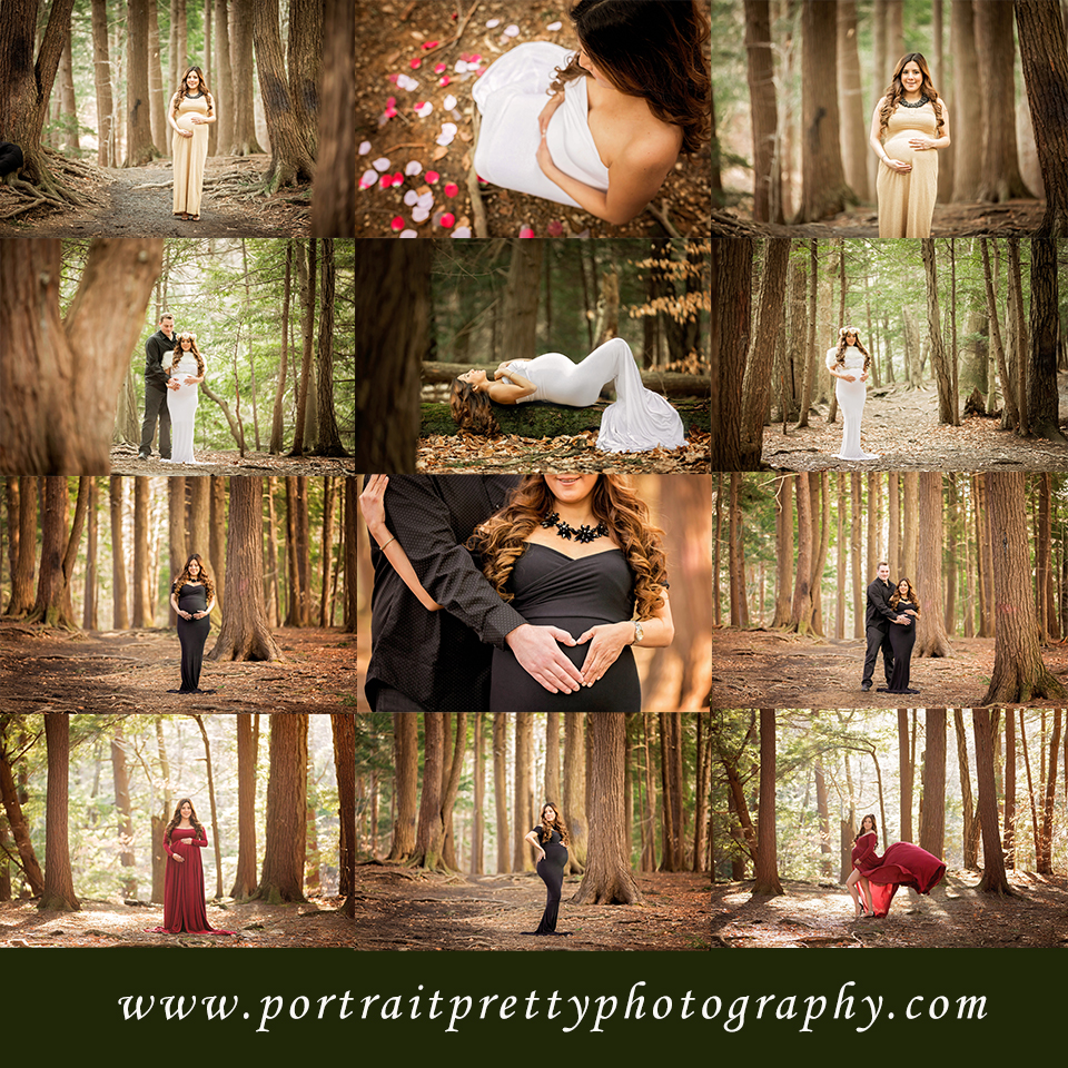 maternity portraits in the forest by portrait pretty photography buffalo ny