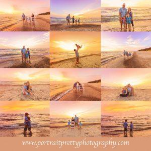 family portraits at the beach by portrait pretty photography buffalo ny at sunset
