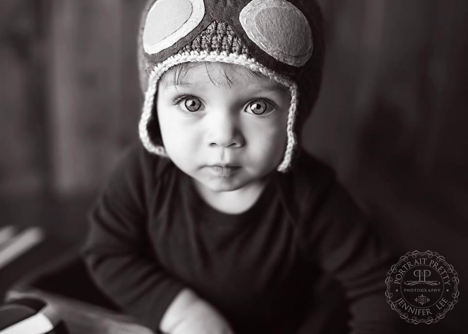 first birthday boy black and white