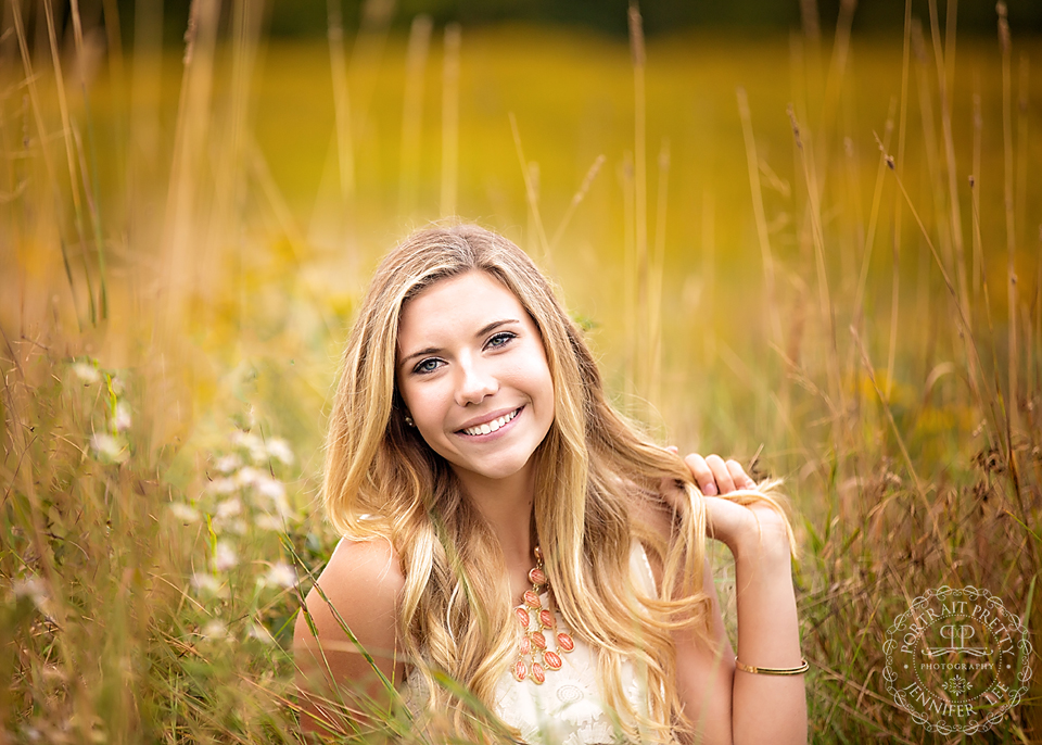 Iroquois senior portraits tall golden grass