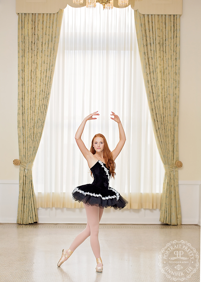 buffalo ny senior portrait hotel lafayette ballet scene