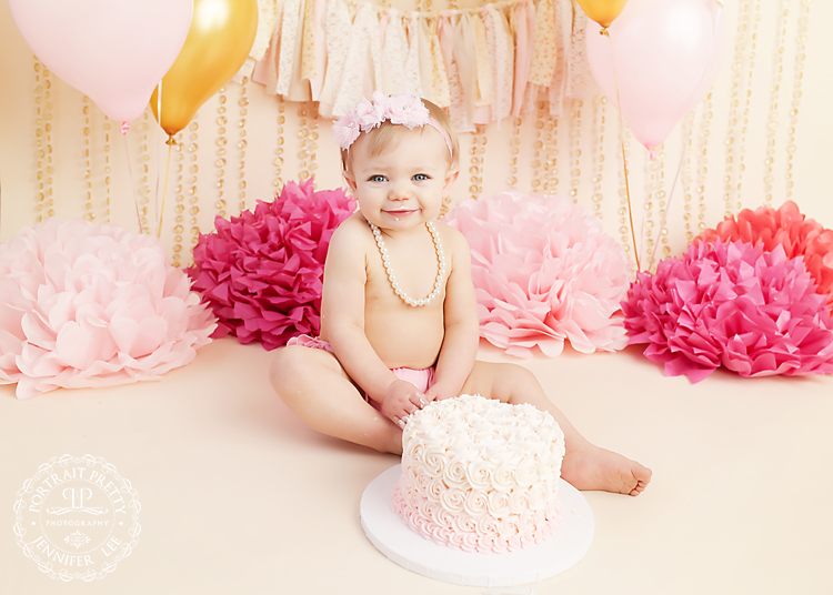 first birthday cake smash Buffalo NY Portrait Pretty Photography copy