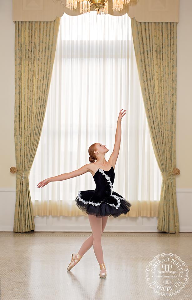 senior portraits ballet point