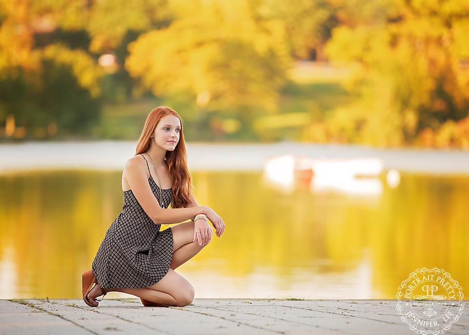 senior portraits deleware park dock