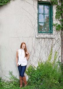 senior portraits knox farm ivy