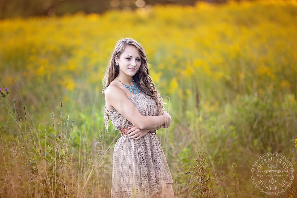 senior portraits gold grass