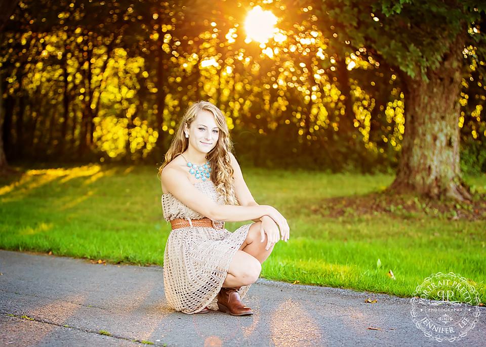 senior portraits knox farm park sunset