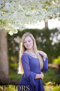 cherry blossom senior pictures by portrait pretty photography