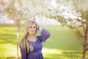 cherry blossom senior portraits wny senior photographer