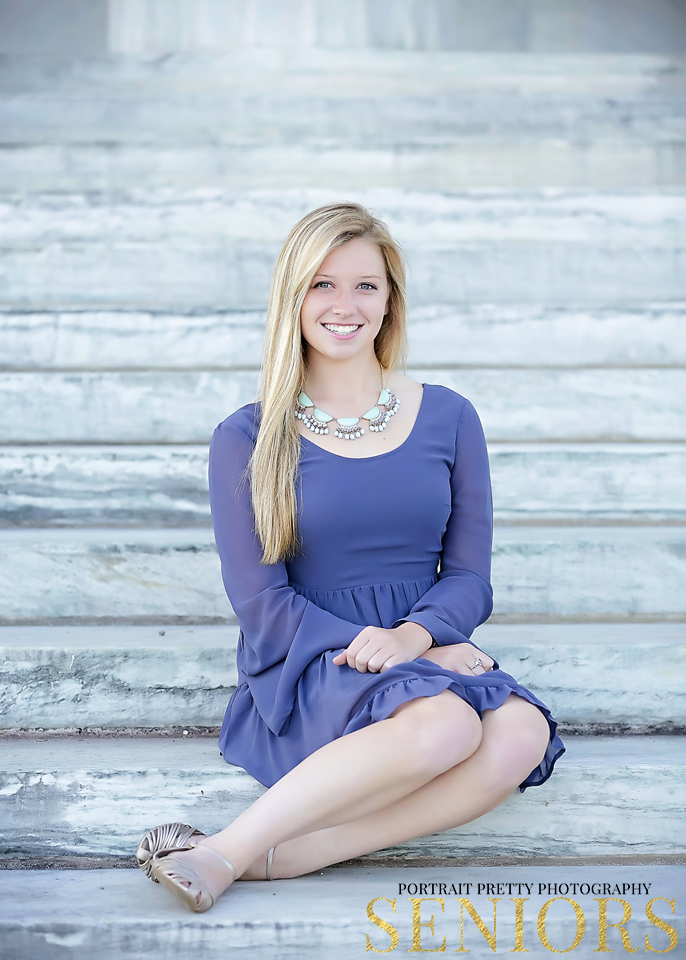marble stairs senior portraits by portrait pretty photography