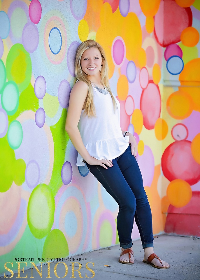 senior portraits urban wall by portrait pretty photography