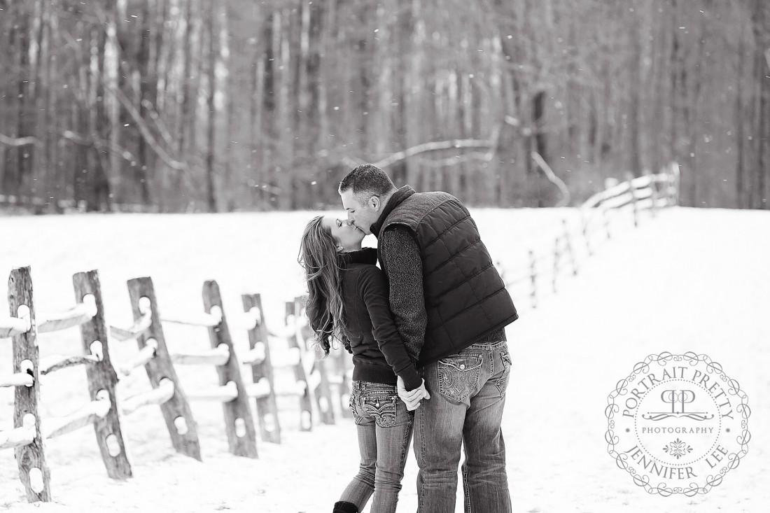 couples winter portrait east aurora