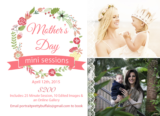 mommy and me mini sessions WNY