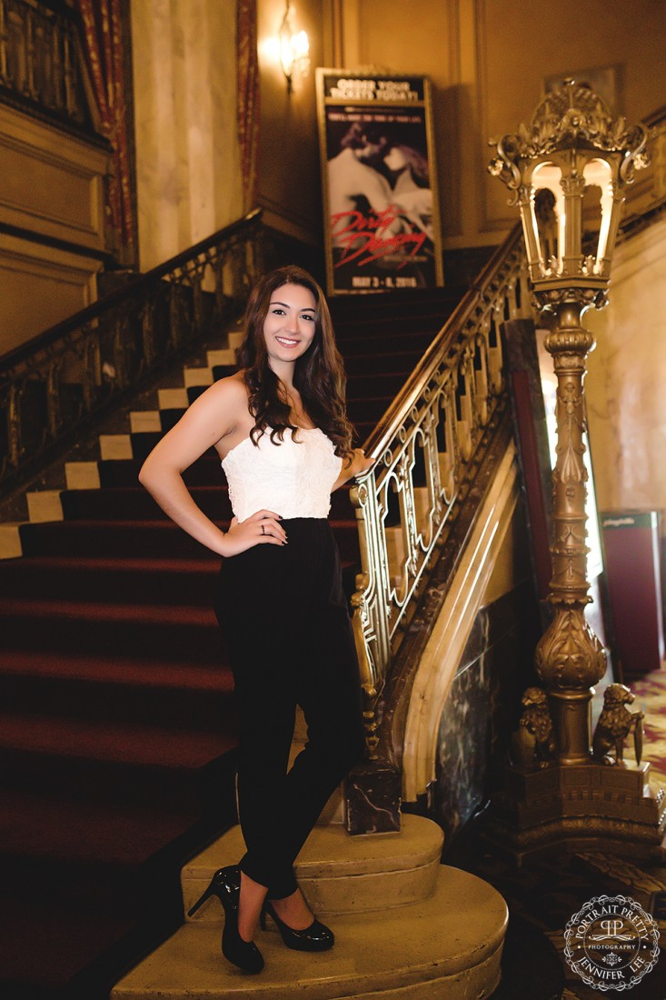 Sheas senior portraits by stairs and light by portrait pretty photography