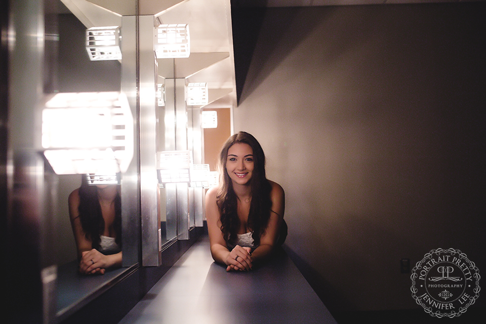 Sheas senior portraits in make up room by portrait pretty photography