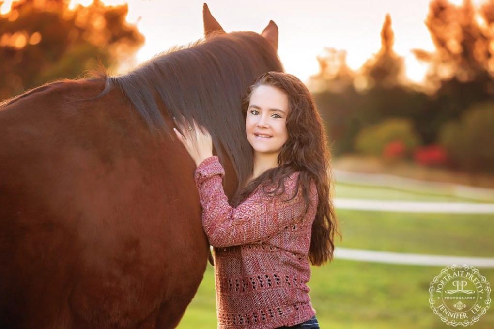 equestrian senior portraits with horse buffalo photographers portrait pretty photography
