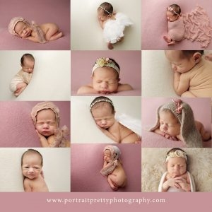 buffalo ny newborn photographer portrait pretty pink baby girl buffalo ny newborn photographers