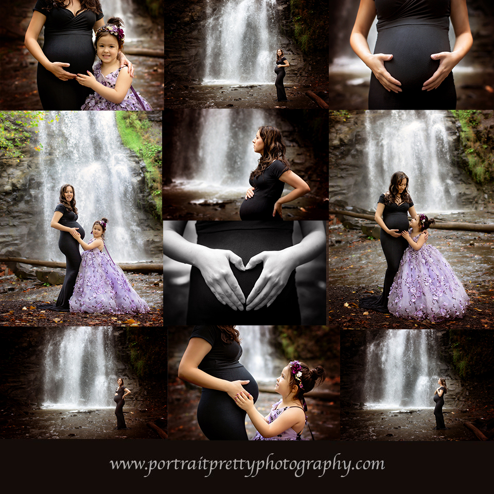 Buffalo ny best maternity photographers waterfalls high end luxury portrait pretty photography