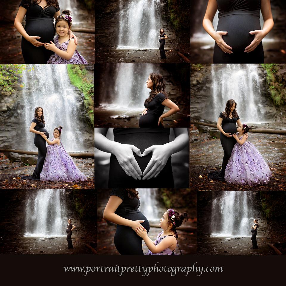 Buffalo ny best maternity photographers waterfalls high end luxury portrait pretty photography
